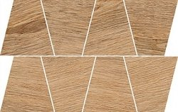 OPOCZNO rustic light brown mosaic trapeze 19x30,6