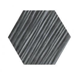 CERAMIKA KONSKIE hexagon graphite relief a7 13x15 szt g1