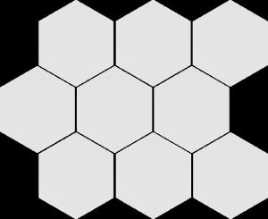 CERRAD cambia white lappato mozaika heksagon  33,4x27,53x8 g1 szt.