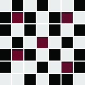 CERAMIKA KONSKIE michelle white-black mosaic 20x20 szt g1