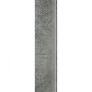 PARADYZ scratch nero stopnica prosta nacinana mat. 29,8x119,8 g1