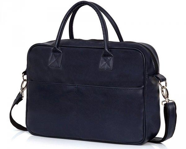 Granatowa torba na laptopa Solome arte 02 skos