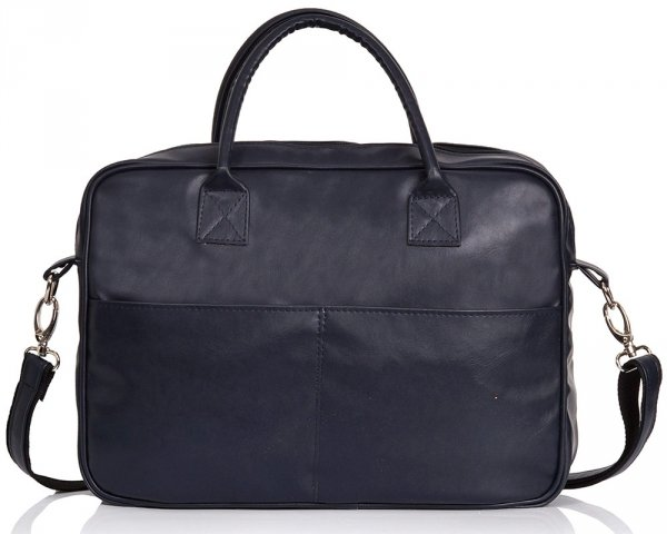 Granatowa torba na laptopa Solome arte 02 przód