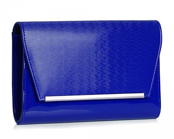 Kopertówka torebka wizytowa M10 Solome kobaltowa spiro skos