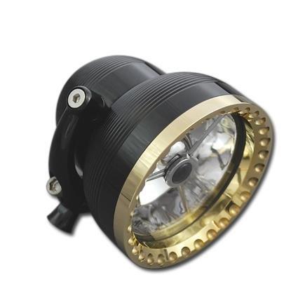 "Neo Fusion 4 1/2"" Billet Headlight by Cycle Kraft black"