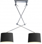 LAMPA SUFITOWA AZZARDO ADAM 2 S BLACK PENDANT AZ1842+AZ2586+AZ2586