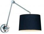 LAMPA ŚCIENNA KINKIET AZZARDO ADAM WALL S BLACK AZ1843+AZ2600