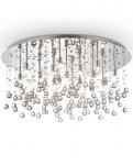 CHROMOWY PLAFON Z KRYSZTAŁOWY IDEAL LUX  MOONLIGHT PL15 077819 CHROM LAMPA KRYSZTAŁOWA GLAMOUR