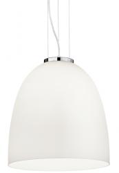 LAMPA WISZĄCA EVA SP1 SMALL IDEAL LUX 077697 SZKLANA BIAŁA