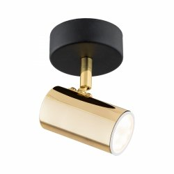 LAMPA SUFITOWA SPOT REFLEKTOR CZARNO-ZLOTY GU10 ARGON LAGOS 4208 KINKIET REGULOWANY