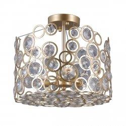 KRYSZTAŁOWA LAMPA SUFITOWA ITALUX NARDO PNPL-33064-3-CH.G PLAFON Z KRYSZTAŁKAMI