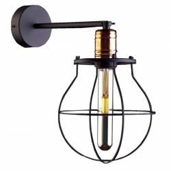 LAMPA KINKIET NOWODVORSKI MANUFACTURE 9742 LOFT VINTAGE METALOWY CZARNY