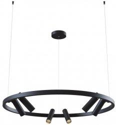NOWOCZESNA LAMPA SUFITOWA LED KOŁO MAYTONI SATTELITE MOD102PL-L42B CZARNA