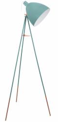 LAMPA PODŁOGOWA NA TRÓJNOGU EGLO DUNDEE 49342 MIĘTOWA VINTAGE LOFT LAMPA NA STATYWIE