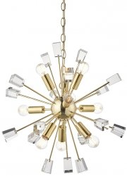 DESIGNERSKA LAMPA WISZĄCA MIRO ENDON MOSIĘŻNA GLAMOUR Z KRYSZTAŁKAMI