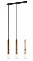 LAMPA WISZĄCA NA LISTWIE VINTAGE ITALUX TORLA PEN-5041-3-BKBR POTRÓJNY ZWIS