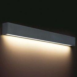 KINKIET LISTWA LED NAD LUSTRO STRAIGHT WALL LED 9617 METALOWY GRAFITOWY  NOWODVORSKI