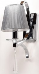 LAMPA ŚCIENNA KINKIET KRYSZTAŁOWY VENISIA W1 LDW 8810-1 SL