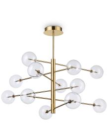 DESIGNERSKA LAMPA WISZĄCA EQUINOXE SP12 IDEAL LUX ZŁOTA