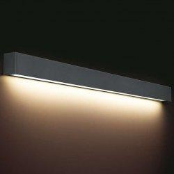KINKIET LISTWA LED NAD LUSTRO STRAIGHT WALL LED 9616 METALOWY GRAFITOWY NOWODVORSKI