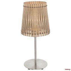LAMPA STOŁOWA NOCNA SENDERO 96196 EGLO BRĄZOWA NATURALNE DREWNO