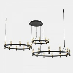 NOWOCZESNA LAMPA WISZĄCA LED ITALUX ALMELO PND-83812-60