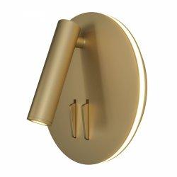 ZŁOTY KINKIET HOTELOWY ŚCIENNY LED IOS 176 MAYTONI  C176-WL-01-6W-MG