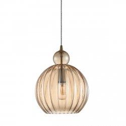 ITALUX BIRON PND-8744-1M-CN LAMPA WISZĄCA SZKLANA MOSIĄDZ NOWOCZESNA