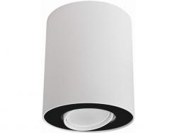 LAMPA NOWODVORSKI SET 8898 OPRAWA SUFITOWA TUBA BIAŁY/CZARNY NOWOCZESNA
