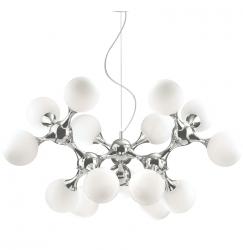 CHROMOWA LAMPA WISZĄCA IDEAL LUX NODI SP15 082073 DESIGNERSKA CHROM