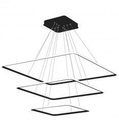 NOWOCZESNA LAMPA WISZĄCA KWADRATOWA NIX BLACK EXTERNO 117W LED CZARNA MILAGRO ML3859 BARWA CIEPŁA 3000K