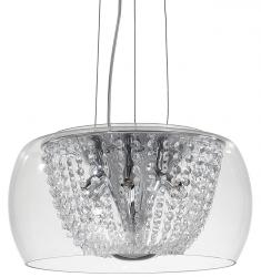 KRYSZTAŁOWA LAMPA WISZĄCA AUDI-61 SP6 IDEAL LUX W STULU GLAMOUR