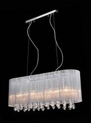 ITALUX ISLA LAMPA WISZĄCA ABAZUROWA GLAMOUR Z KRYSZTAŁKAMI