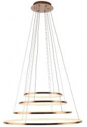 MIEDZIANA LAMPA WISZĄCA KOŁO LED MAXLIGHT QUEEN IV P044D Z FUNKCJĄ ŚCIEMNIANIA ŚWIATŁA LAMPA OKRĄG DO SALONU JADALNI