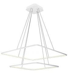 NOWOCZESNA LAMPA WISZĄCA KWADRATY NIX WHITE 50W LED BIAŁA MILAGRO ML981 BARWA NEUTRALNA 4000K