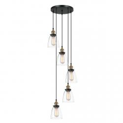 LAMPA WISZĄCA ITALUX FRANCIS MDM-2563/5 GD+CL