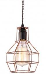 MIEDZIANA LAMPA WISZĄCA VINTAGE ITALUX PERIFO MDM-2272/1 BK+COP
