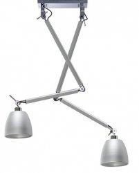 NOWOCZESNA LAMPA SUFITOWA WISZĄCA AZZARDO ZYTA 2 S PENDANT ALUMINIOWA ALU  AZ2301+AZ2596+AZ2596 33cm