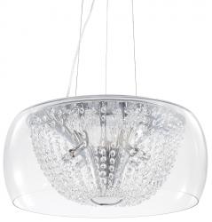 KRYSZTAŁOWA LAMPA WISZĄCA AUDI-61 SP8 IDEAL LUX W STULU GLAMOUR