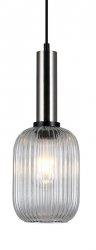 NOWOCZESNA SZKLANA LAMPA WISZĄCA ITALUX ANTIOLA PND-5588-1M-SC+CL DESIGNERSKA LOFT