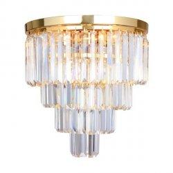 ZUMA LINE AMEDEO FC17106/4+1 -GLD LAMPA SUFITOWA PLAFON KRYSZTAŁOWA ZŁOTA