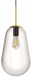 NOWODVORSKI PEAR M 8672 ZŁOTA SZKLANA LAMPA WISZĄCA KULA LOFT
