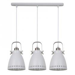 LAMPA WISZĄCA NA LISTWIE W STYLU LOFT ITALUX FRANKLIN MD-HN8026S-3-WH+S.NICK BIAŁA NAD STÓŁ