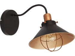 LAMPA KINKIET NOWODVORSKI GARRET 6442 CZARNY ZŁOTY LOFT