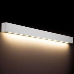KINKIET LISTWA LED NAD LUSTRO STRAIGHT WALL LED 9612 METALOWY BIAŁY NOWODVORSKI