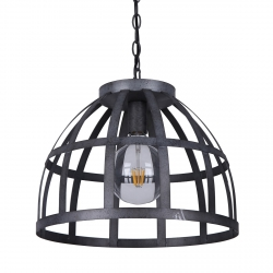 INDUTRIALNA LAMPA WISZĄCA CZARNA ITALUX CALERA PND-4014-47-1