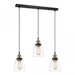 LAMPA WISZĄCA ITALUX FRANCIS MDM-2563/3 GD+CL