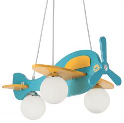 DREWNIANA LAMPA WISZĄCA NOWOCZESNA DZIECIĘCA AVION-1 SP3 IDEAL LUX