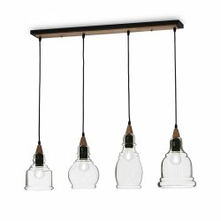 SZKLANA LAMPA WISZĄCA IDEAL LUX GRETEL SP5 122557 LOFT