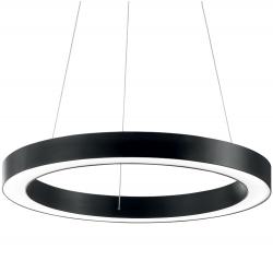 CZARNA LAMPA WISZĄCA OKRĄG IDEAL LUX ORACLE ROUND D70 NERO 222110 NOWOCZESNA RING LED